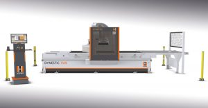 HOLZER Dynestic 7505 with Pusher and Conveyor belt.