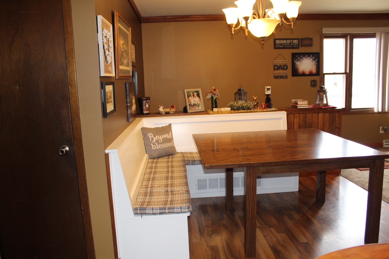 Custom Built Booth and Table for Home