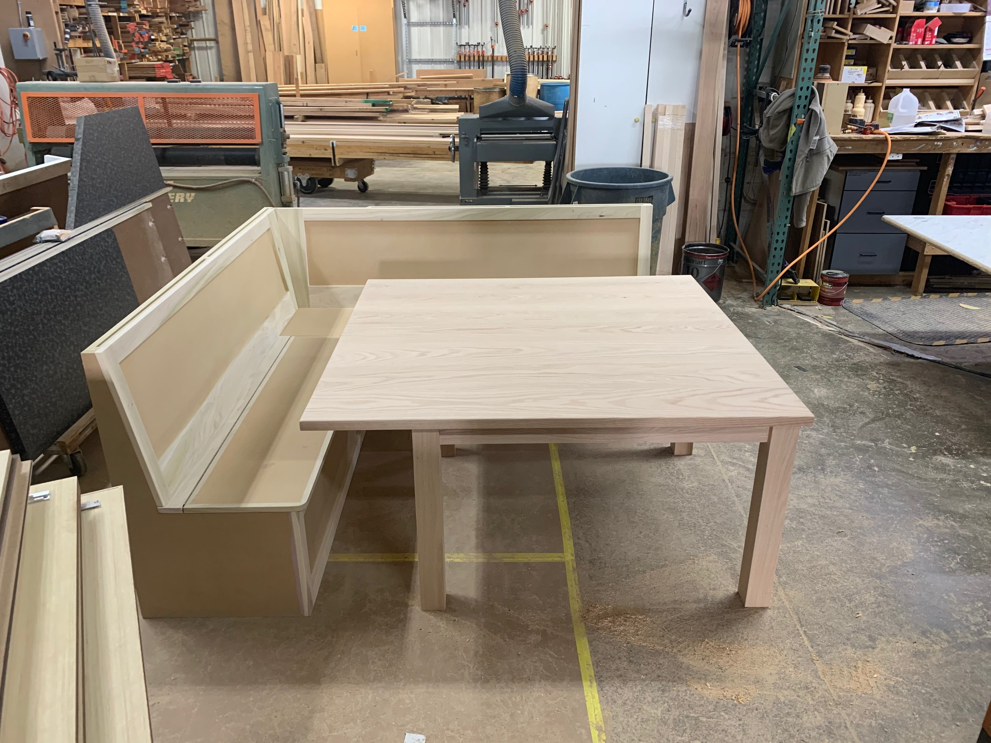 Custom Built Booth and Table